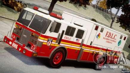 LCFD Hazmat Truck v1.3 para GTA 4