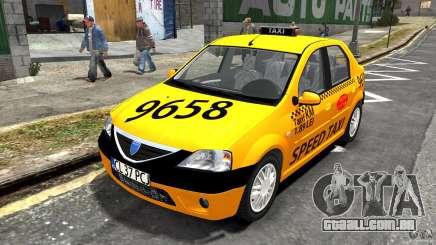 Dacia Logan Prestige Taxi para GTA 4