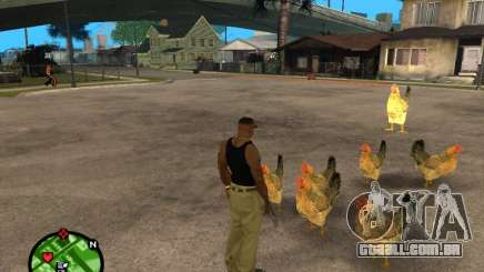 Galinhas no GTA San Andreas para GTA San Andreas