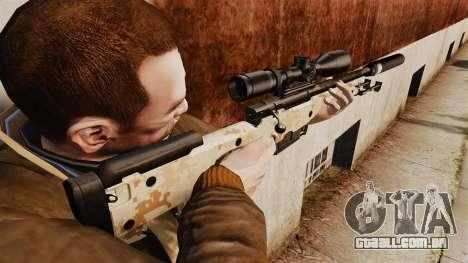 Rifle de sniper L115A1 AW com um silenciador v9 para GTA 4 segundo screenshot