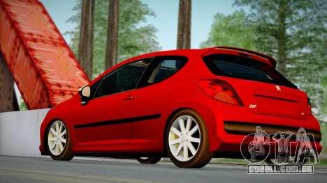 Peugeot 207 para GTA San Andreas esquerda vista