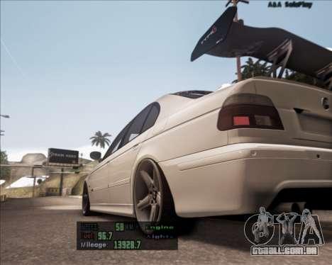BMW M5 E39 Stanced para GTA San Andreas traseira esquerda vista