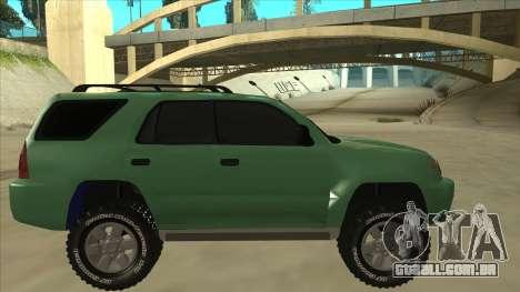 Toyota 4Runner 2009 v2 para GTA San Andreas traseira esquerda vista
