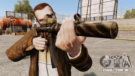 MP5SD metralhadora v3 para GTA 4 terceira tela