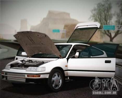 Honda CR-X 1991 para GTA San Andreas vista interior