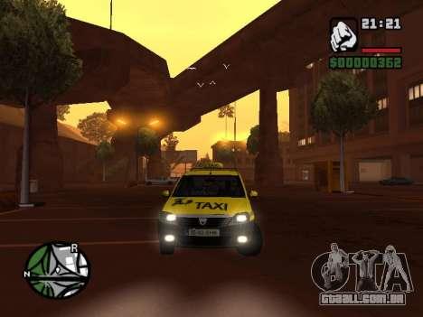 Dacia Logan 2008 LS Taxi para GTA San Andreas