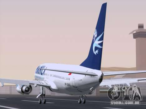 Boeing 737-800 Spirit of Manila Airlines para GTA San Andreas traseira esquerda vista