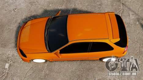 Honda Civic Gtaciyiz 2 para GTA 4 vista direita