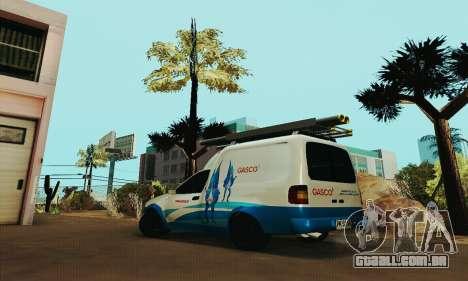 Chevrolet Combo Gasco para GTA San Andreas esquerda vista