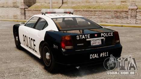 Buffalo policial LAPD v1 para GTA 4 traseira esquerda vista
