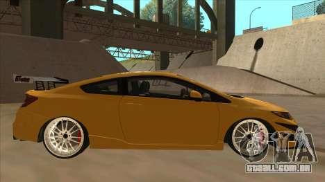 Honda Civic SI 2012 para GTA San Andreas traseira esquerda vista