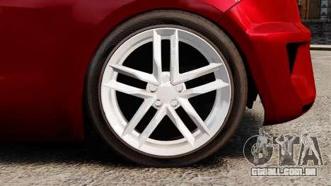 SEAT Ibiza para GTA 4 vista de volta