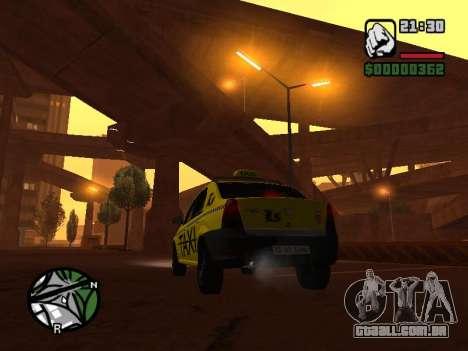 Dacia Logan 2008 LS Taxi para GTA San Andreas esquerda vista