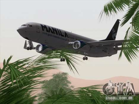 Boeing 737-800 Spirit of Manila Airlines para o motor de GTA San Andreas
