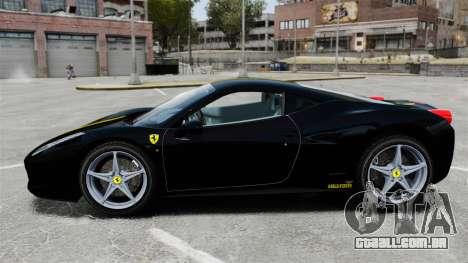 Ferrari 458 Italia 2010 Wheelsandmore 2013 para GTA 4 esquerda vista