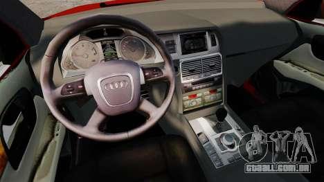 Audi Q7 para GTA 4 vista interior