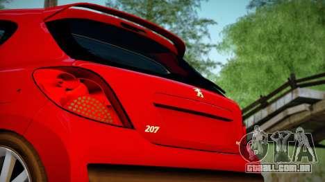 Peugeot 207 para GTA San Andreas traseira esquerda vista