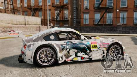 BMW Z4 M Coupe GT Black Rock Shooter para GTA 4 esquerda vista