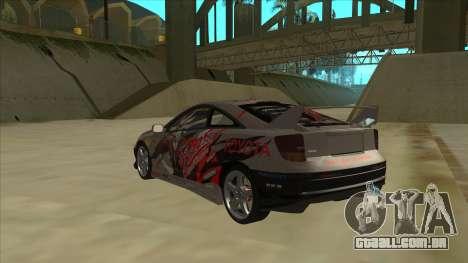 Toyota Celica ZZT231 Itasha para GTA San Andreas vista traseira