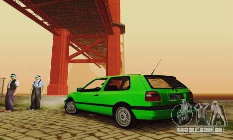 Volkswagen Golf Mk3 GTi 1997 para GTA San Andreas vista direita