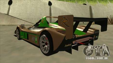 Radical SR8 RX para GTA San Andreas vista traseira