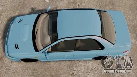 Subaru Impreza WRX STI 5 Domestic Drifter 1999 para GTA 4 vista direita