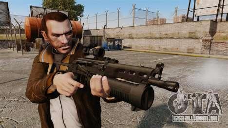 Submetralhadora pp-19 Bizon para GTA 4 terceira tela