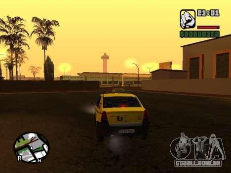Dacia Logan 2008 LS Taxi para GTA San Andreas traseira esquerda vista