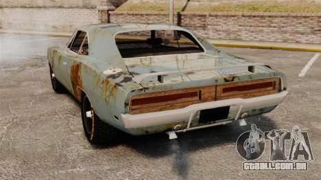 Dodge Charger RT 1969 enferrujado v 1.1 para GTA 4 traseira esquerda vista