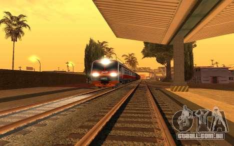 Train light para GTA San Andreas terceira tela