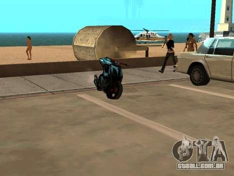 Yamaha Aerox para GTA San Andreas esquerda vista