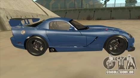 Dodge Viper SRT-10 ACR TT Black Revel para GTA San Andreas traseira esquerda vista