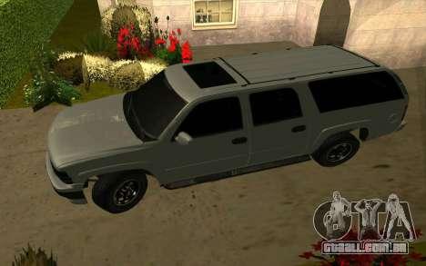 Chevrolet Suburban para GTA San Andreas vista direita