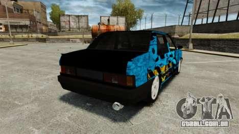 Tofas Dogan Kaplama para GTA 4 traseira esquerda vista