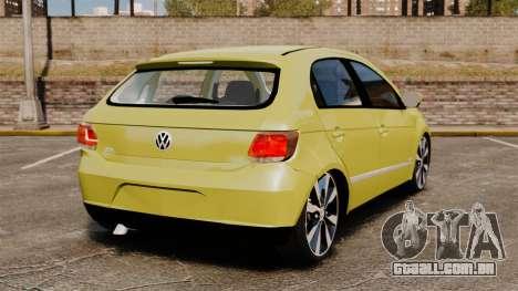 Volkswagen Gol G6 para GTA 4 traseira esquerda vista