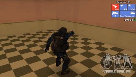 Pele da SWAT para GTA San Andreas terceira tela