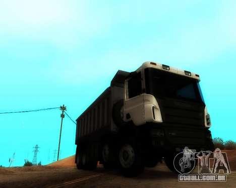 Scania P420 8X4 Dump Truck para GTA San Andreas vista direita