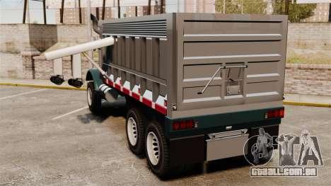 Novo caminhão Biff para GTA 4 traseira esquerda vista