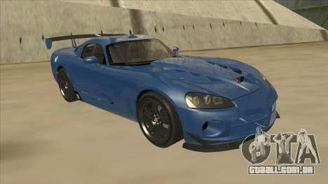 Dodge Viper SRT-10 ACR TT Black Revel para GTA San Andreas esquerda vista