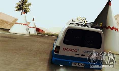 Chevrolet Combo Gasco para GTA San Andreas vista direita