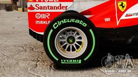 Ferrari F138 2013 v3 para GTA 4 vista de volta