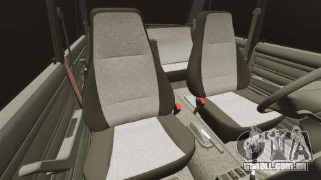 Vaz-2107 para GTA 4 vista inferior