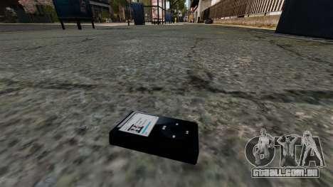 Jogador de MP3 atualizado para GTA 4 terceira tela