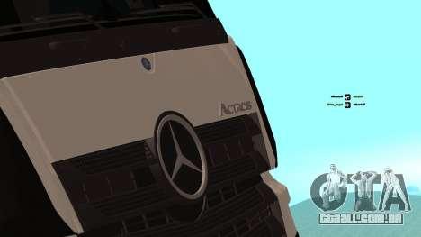 Mercedes-Benz Actros para GTA San Andreas vista interior
