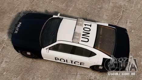 Buffalo policial LAPD v1 para GTA 4 vista direita