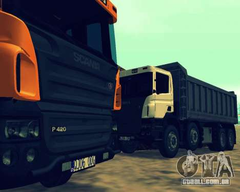 Scania P420 8X4 Dump Truck para GTA San Andreas interior