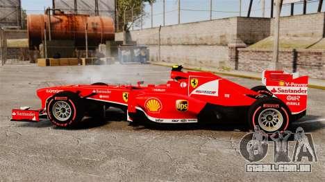 Ferrari F138 2013 v6 para GTA 4 esquerda vista