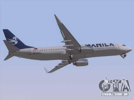 Boeing 737-800 Spirit of Manila Airlines para GTA San Andreas vista interior