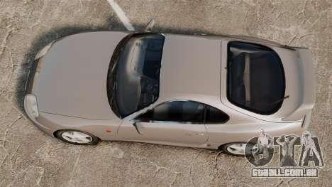 Toyota Supra MKIV 1995 v3.5 para GTA 4 vista direita