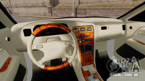 Toyota Mark II 1990 v2 para GTA 4 vista interior